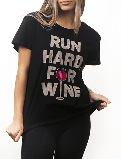 RUN HARD. FOR WINE. tee