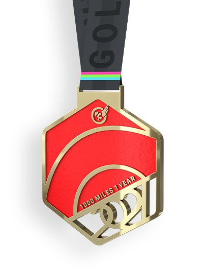 2021 GOLD CHALLENGE finisher's medal