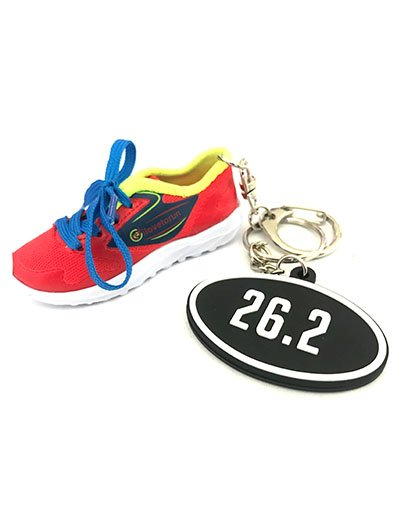 ilovetorun RUNNING SHOE, 26.2 bag charm