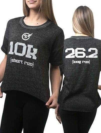 SHORT & LONG RUN acid fleece tee
