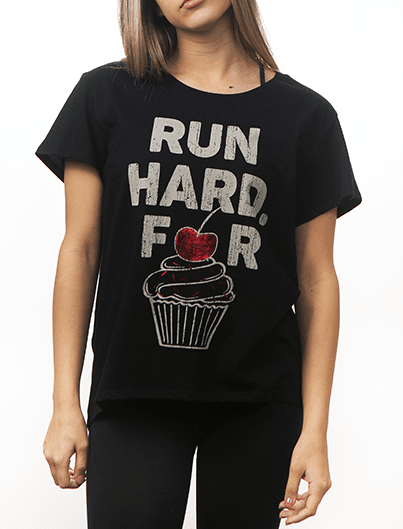 RUN HARD, FOR CUPCAKES tee