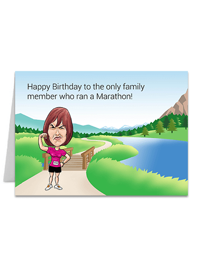 Ran a Marathon  - Greeting Card