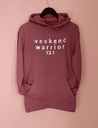 WEEKEND WARRIOR frech terry hoodie, mauve