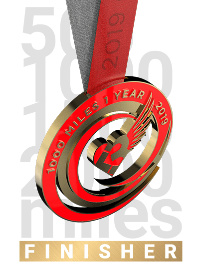 2019 GOLD CHALLENGE finisher's medal