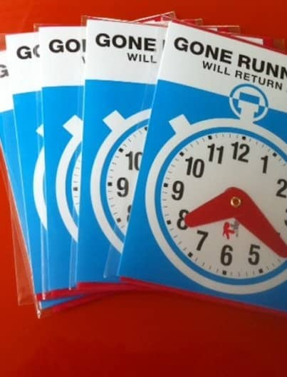 GONE RUNNING greeting card