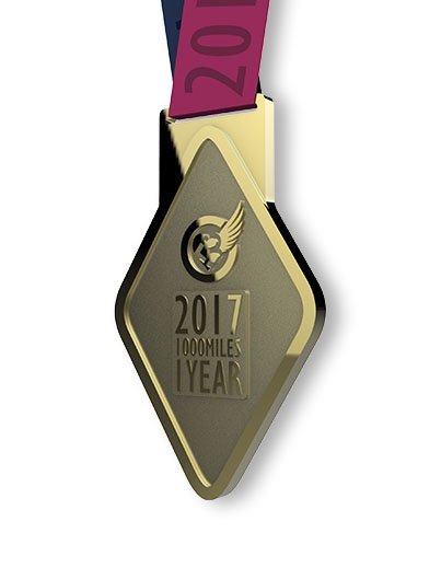 2017 GOLD CHALLENGE finisher's medal