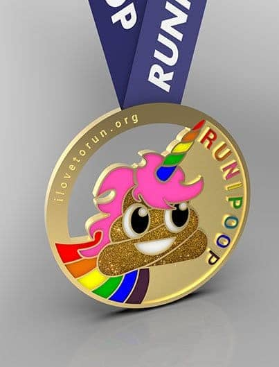 RUNIPOOP challenge, finisher's medal