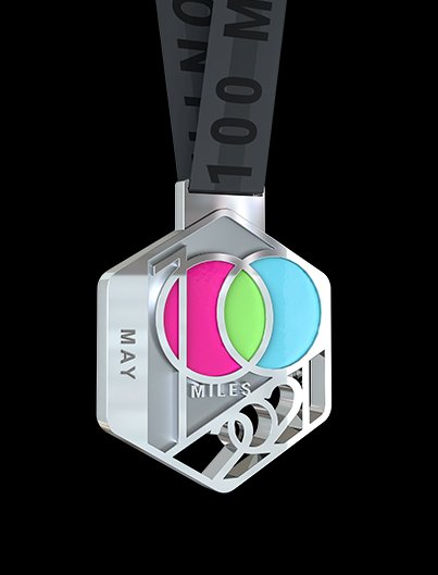 100MILES1MONTH CHALLENGE 2021 finishers medal