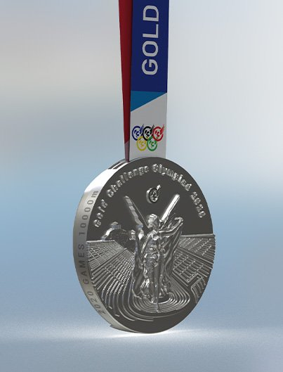OLYMPIC SILVER 10K medal