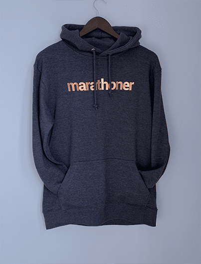 MARATHONER frech terry hoodie, heather denim