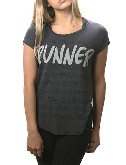 RUNNER dark grey raglan tee
