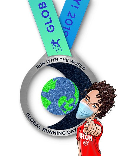 Global Running Day 2019 medal