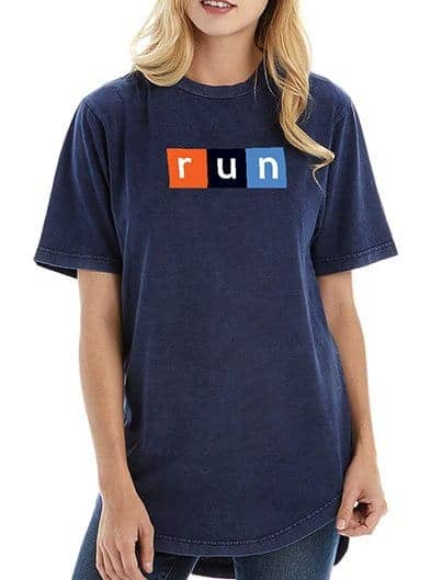 PUBLIC RUN unisex vintage scoop tee
