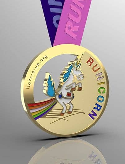 RUNICORN challenge, finisher's medal