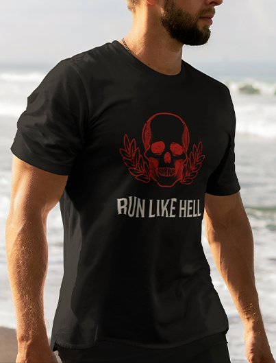 RUN LIKE HELL unisex urban tee