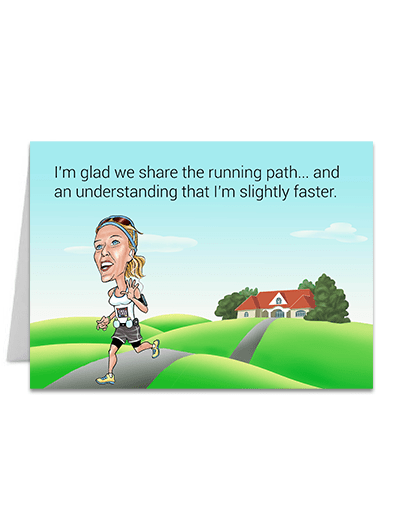 Sligthly Faster  - Greeting Card