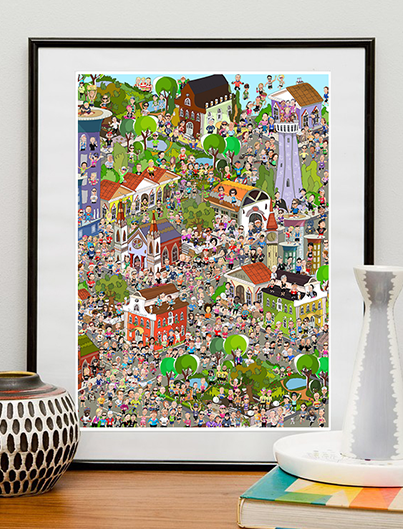 "Our Kind Of Town artwork 12""x18"""