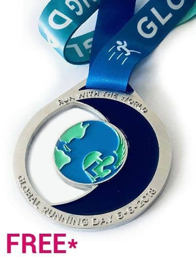 GLOBAL RUNNING DAY 2018 medal