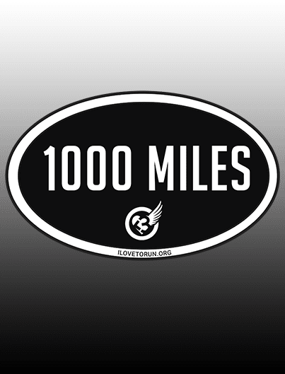 1000MILE1YEAR sticker (2-pack)