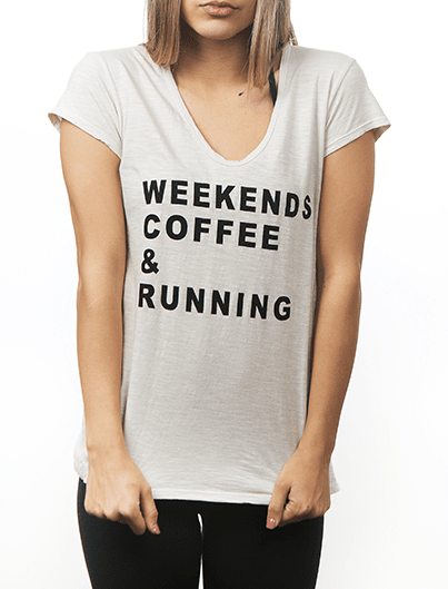 WEEKENDS COFFEE & RUNNING tee