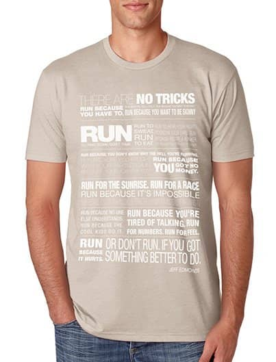JUST RUN, discharge print
