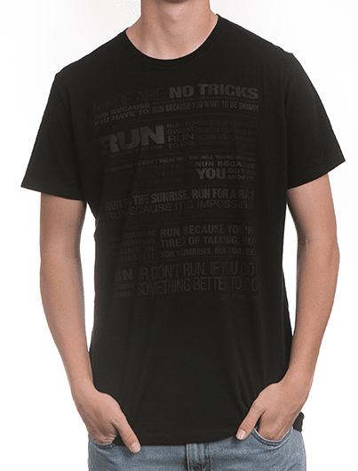 JUST RUN, silicone print tee