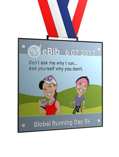 Global Running Day 5K, eBib Medal