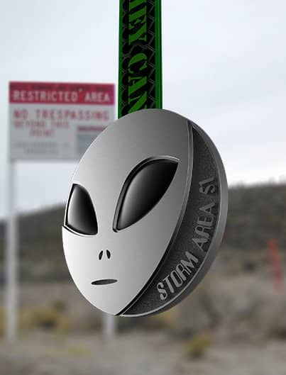 STORM AREA 51 virtual 5k run medal