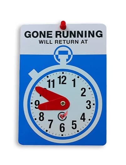 Gone Running sign